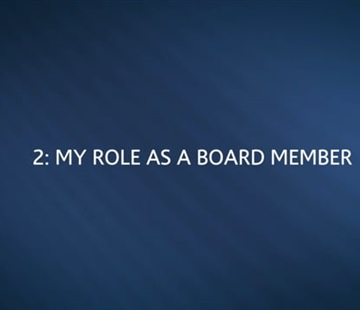 Chapter 2: My Role as a Board Member